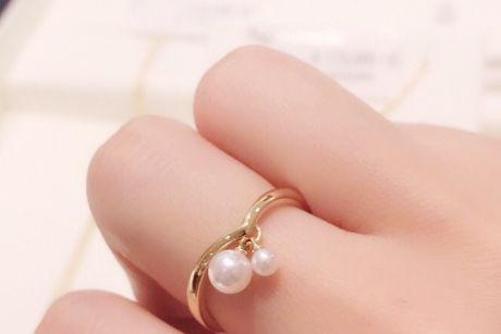 mikimoto珍珠戒指图片?mikimoto珍珠色泽好看嘛?-1